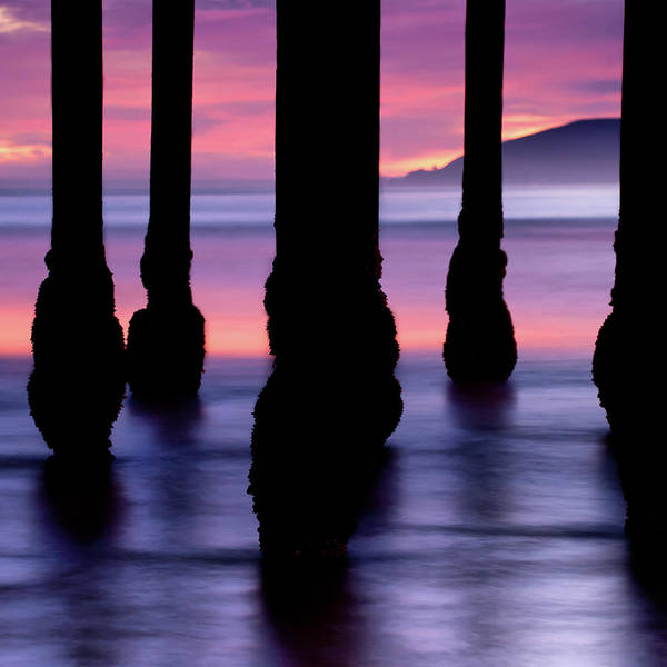 Photograph - Ocean Pier Silhouettes At Dusk by Gregory Ballos