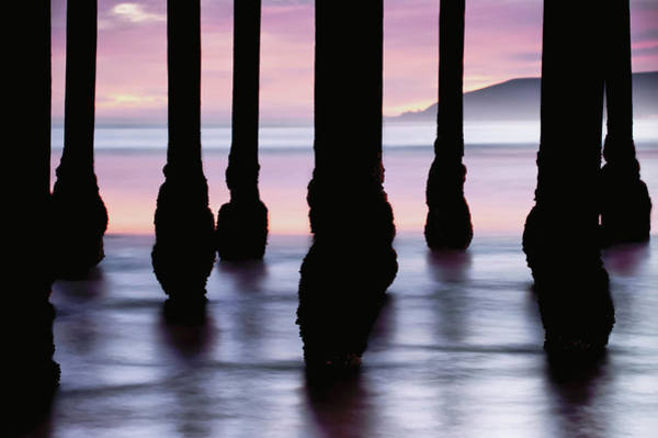 Photograph - Ocean Pier Silhouettes - California Sunset by Gregory Ballos