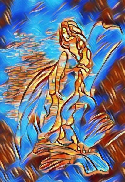 Wall Art - Mixed Media - Ocean Queen by Sabela Carlos