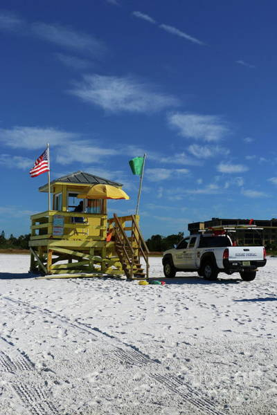 Wall Art - Photograph - Ocean Rescue And Lifeguard Station Siesta Key by Christiane Schulze Art And Photography