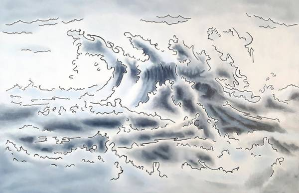 Painting - Ocean Rising by Dave Martsolf