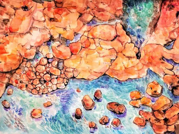 Ocean Rocks 2018 Art Print