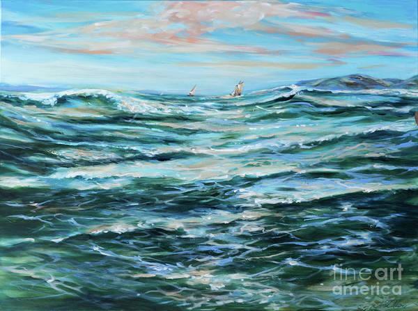 Painting - Ocean Sail by Linda Olsen