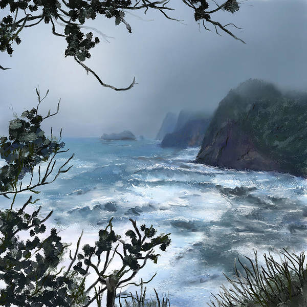 Digital Art - Ocean Storm by Susan Kinney