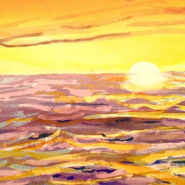 Wall Art - Painting - Ocean Sunset  by Catherine Bennett