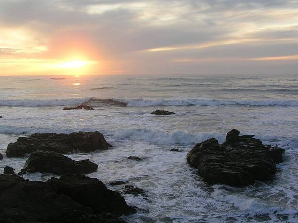 Cambria Photograph - Ocean Sunset by Sandy L. Kirkner