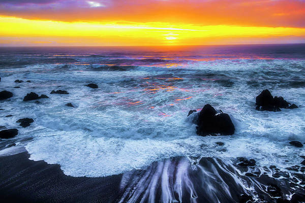 Wall Art - Photograph - Ocean Sunset Sonoma Coast by Garry Gay