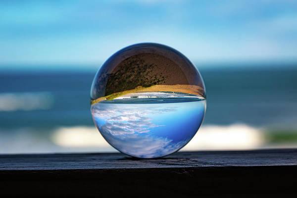 Photograph - Ocean Through The Lens Ball by Lora J Wilson