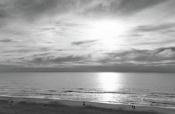 Photograph - Ocean View Black And White by Andrea Anderegg