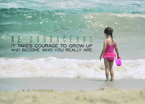Photograph - Ocean Wading Quote by JAMART Photography