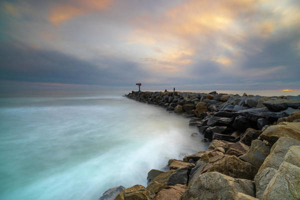 Wall Art - Photograph - Oceanside Harbor Jetty by Larry Marshall