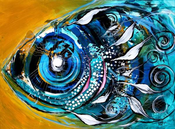 Painting - Ochre Fish Four by J Vincent Scarpace
