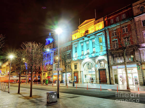 Wall Art - Photograph - O'connell Street Colors At Night In Dublin by John Rizzuto