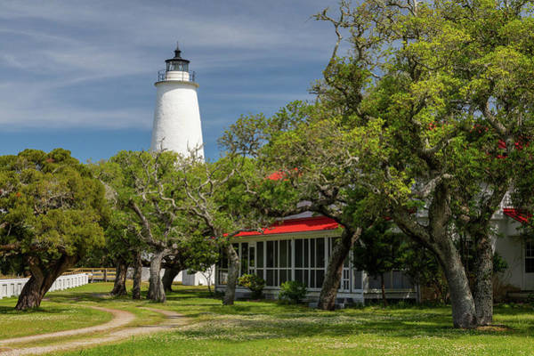 Ocracoke Lighthouse Photograph - Ocracoke Island Light by Claudia Domenig