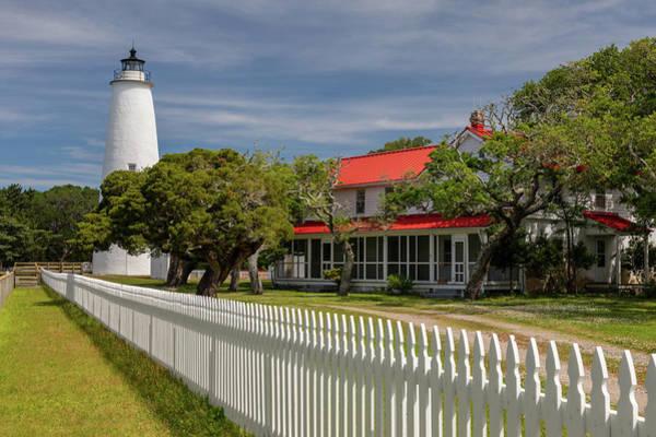 Ocracoke Lighthouse Photograph - Ocracoke Island Light II by Claudia Domenig