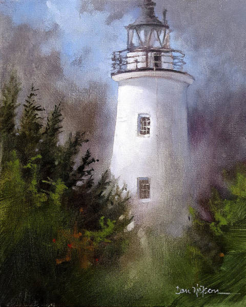 Wall Art - Painting - Ocracoke Light by Dan Nelson
