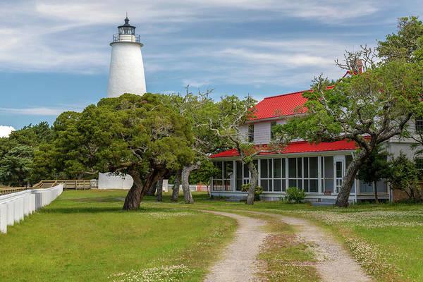 Ocracoke Lighthouse Photograph - Ocracoke Lighthouse by Claudia Domenig