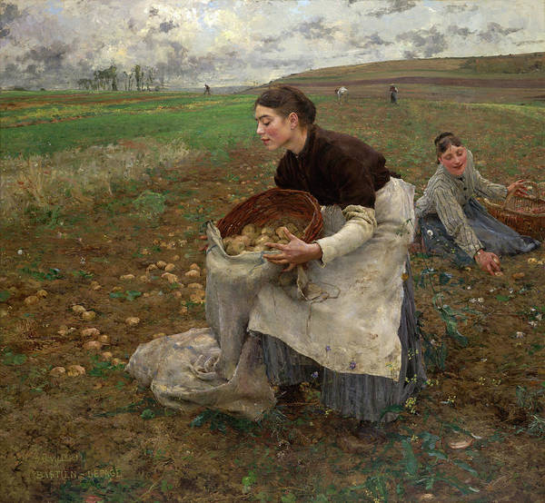 Wall Art - Painting - October, 1878 by Jules Bastien-Lepage