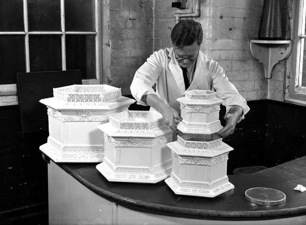 Wedding Cake Photograph - October 1947, A Cake Architect At by Popperfoto