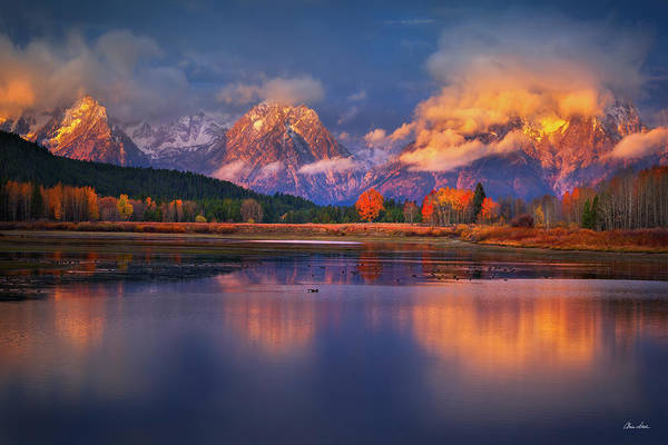 Wall Art - Photograph - Sunrise At Oxbow Bend by Chris Steele