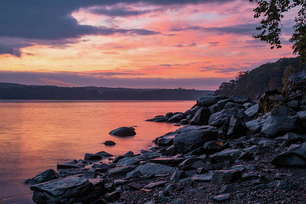 Photograph - October Dawn Over The Hudson I - 2018 by Jeff Severson