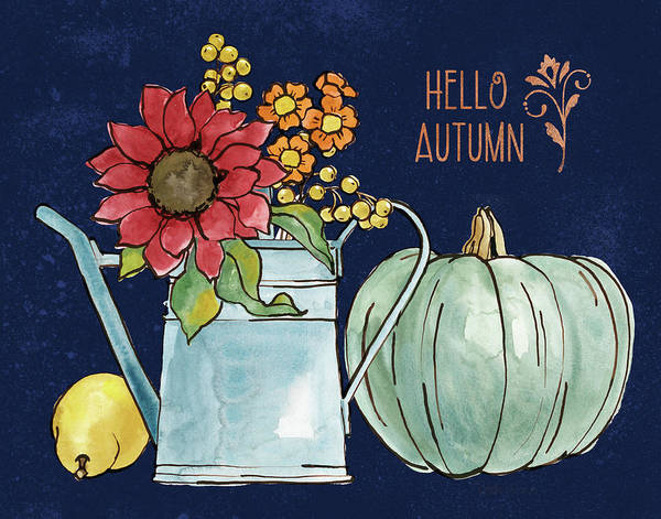 Hello Painting - October Garden Iv Blue by Beth Grove