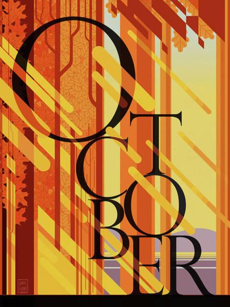 Wall Art - Digital Art - October by Garth Glazier