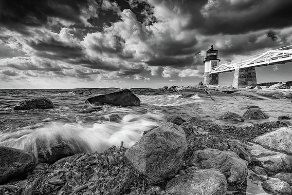 Photograph - October Morning At Marshall Point In Black And White by Rick Berk