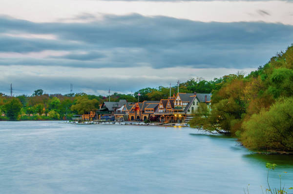 Photograph - October Morning - Boathouse Row - Philadelphia by Bill Cannon