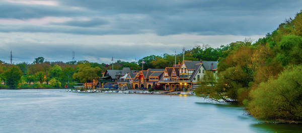 Photograph - October Morning - Boathouse Row - Philadelphia Panorama by Bill Cannon