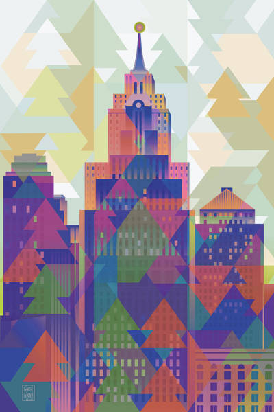 Wall Art - Digital Art - October Afternoon Detroit  by Garth Glazier
