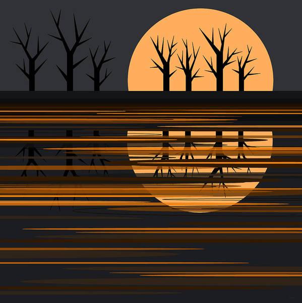 Digital Art - October Pond II by Val Arie