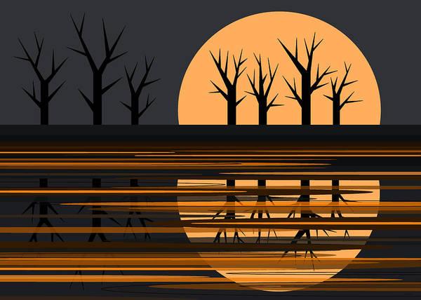 Digital Art - October Pond by Val Arie