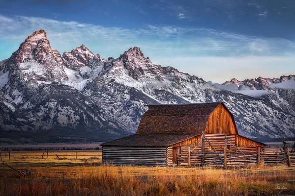 Photograph - October Teton Barn by Chris Steele