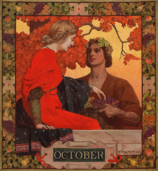 Wall Art - Painting - October by William Clarke Rice
