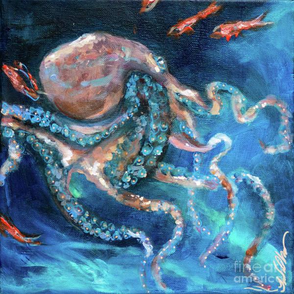Painting - Octopus Crawl by Linda Olsen