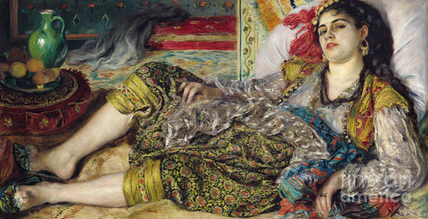 Photograph - Odalisque, 1870 by Renoir