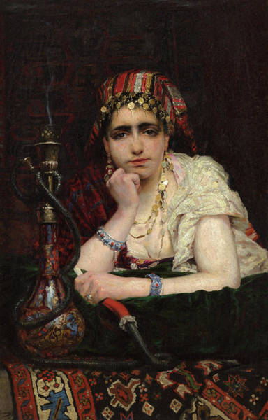 Wall Art - Painting - Odalisque, 1875 by Vasily Polenov