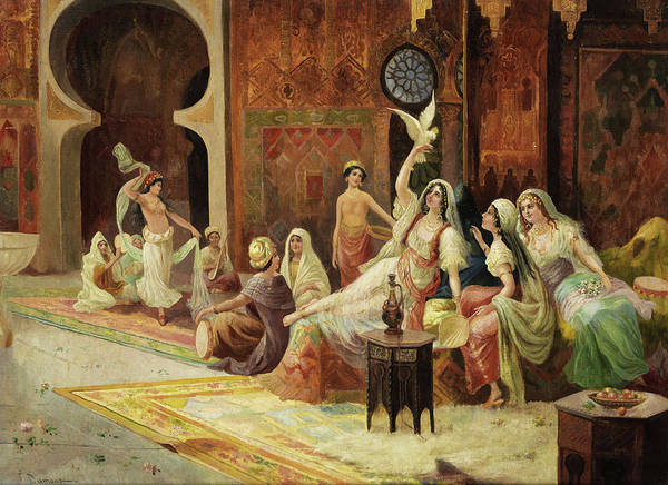 Belly Dancing Painting - Odalisques In A Harem by Unknown