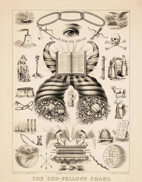 Wall Art - Painting - Odd-fellows Chart, 1877 by American School