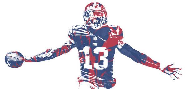 Wall Art - Mixed Media - Odell Beckham Jr New York Giants Pixel Art 51 by Joe Hamilton