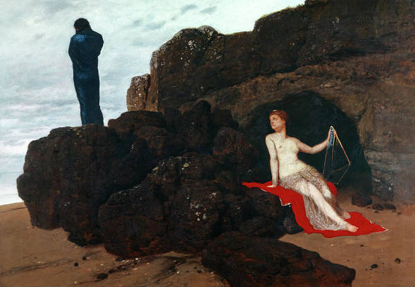 Wall Art - Painting - Odysseus And Calypso by Arnold Bocklin