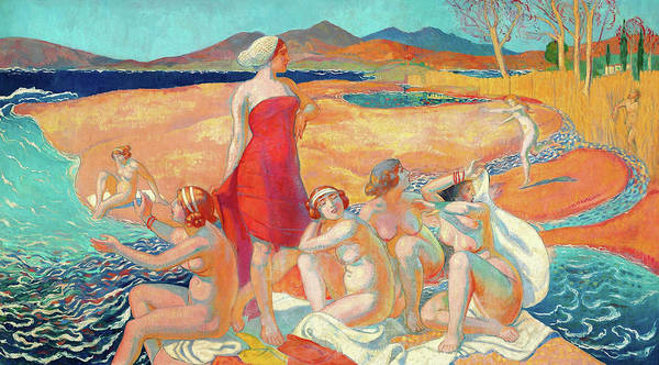 Wall Art - Painting - Odysseus Awakening - Digital Remastered Edition by Maurice Denis