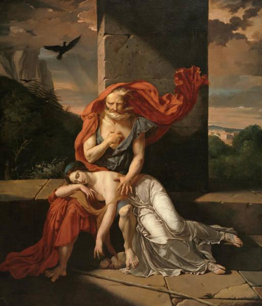 Wall Art - Painting - Oedipus At Colonus, 1798 by Fulchran Jean Harriet