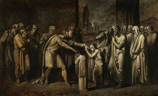 Dod Wall Art - Painting - Oedipus At Colonus by Giuseppe Bossi