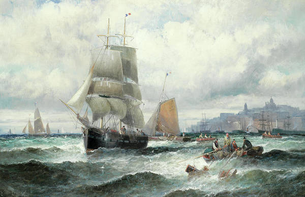 Wall Art - Painting - Off Boulogne by William Thornley