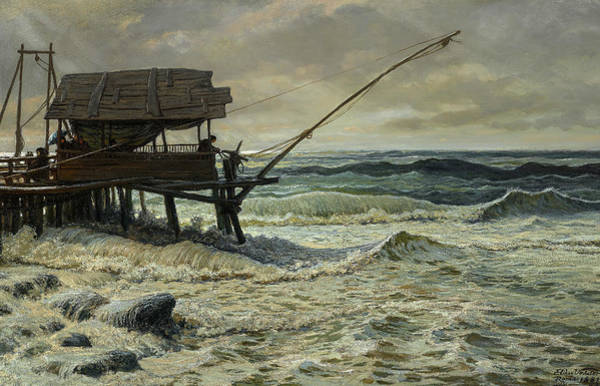 Wall Art - Painting - Off Pier Head, Viareggio, Italy by Elihu Vedder