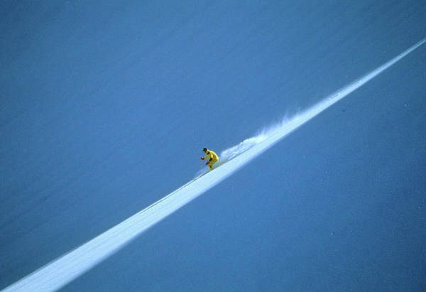 Extreme Sport Photograph - Off-piste Skier On Untouched Snow Field by Per Eriksson
