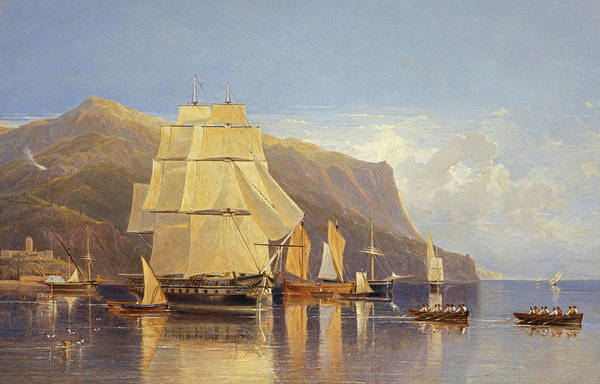 Wall Art - Painting - Off Porto Fino, 1833 by Andrew Wilson