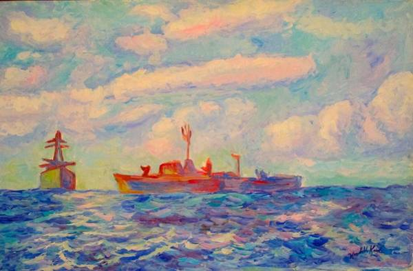 Painting - Off Shore by Kendall Kessler